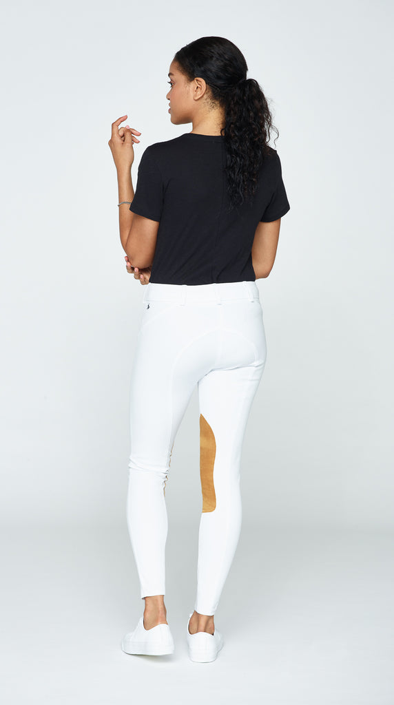 The Derby Riding Pant - White