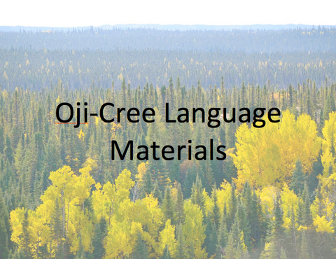 Oji-Cree Language Materials