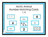 Arctic Animals Number Matching Cards - 1-10