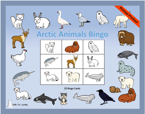 Arctic Animal Bingo - Printed Product