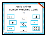 Arctic Animals Number Matching Cards - 1-10 - Printed Product