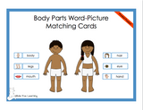 Body Parts Word-Picture Matching Cards - Printed Product