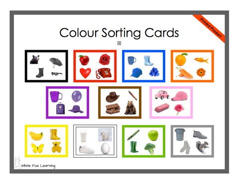 Colour Matching Cards - Printed Product