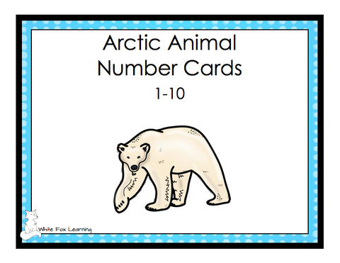 Arctic Animals Number Cards - 1-10 - English Version