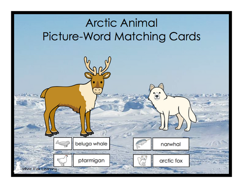 Arctic Animals Matching Cards