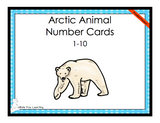 Arctic Animals Number Cards - 1-10 - Printed Product