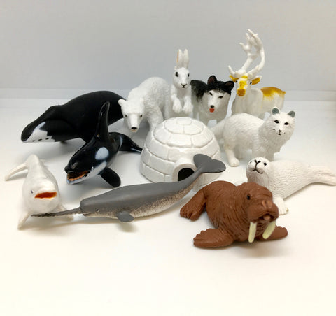 Arctic animals miniatures set