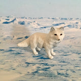 Arctic fox figurine