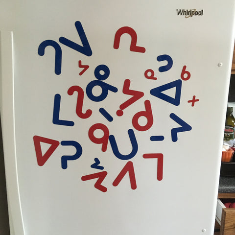 Magnetic Die Cut Syllabics for Whiteboard - Oji-Cree (western finals)
