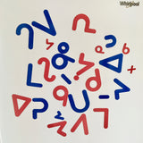 Magnetic Die Cut Syllabics for Whiteboard
