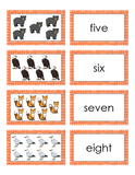 Northern Forest Animals Number Matching Cards - 1-10 - English Version