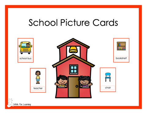 School Picture Cards - Digital Product