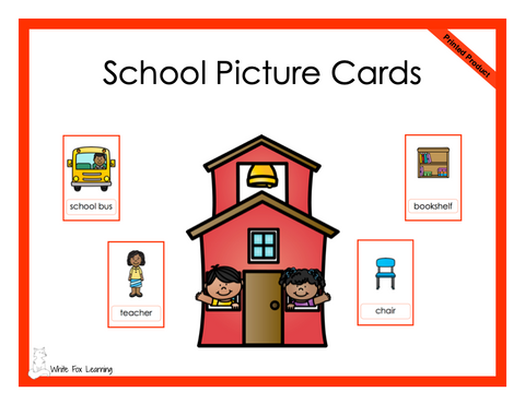 School Picture Cards - Printed Product