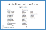 Arctic Plants and Landforms Cards