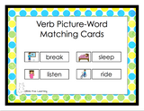 Verb Picture-Word Matching Cards