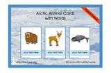 Arctic Animals Cards with Words - Printed Product