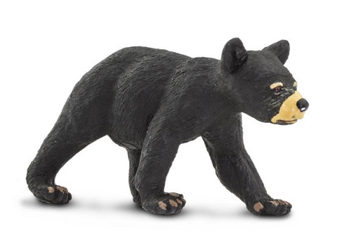 Black bear cub figurine