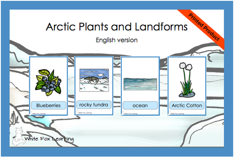 Arctic Plants and Landforms Cards- English Version - Printed Product