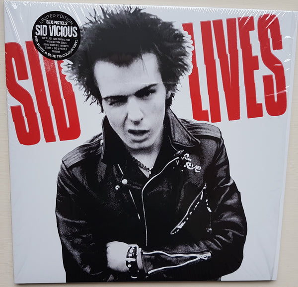 Sid Vicious 'Sid Lives' 2xLP in TRI-COLOUR vinyl, limited edition. His last-ever gigs.