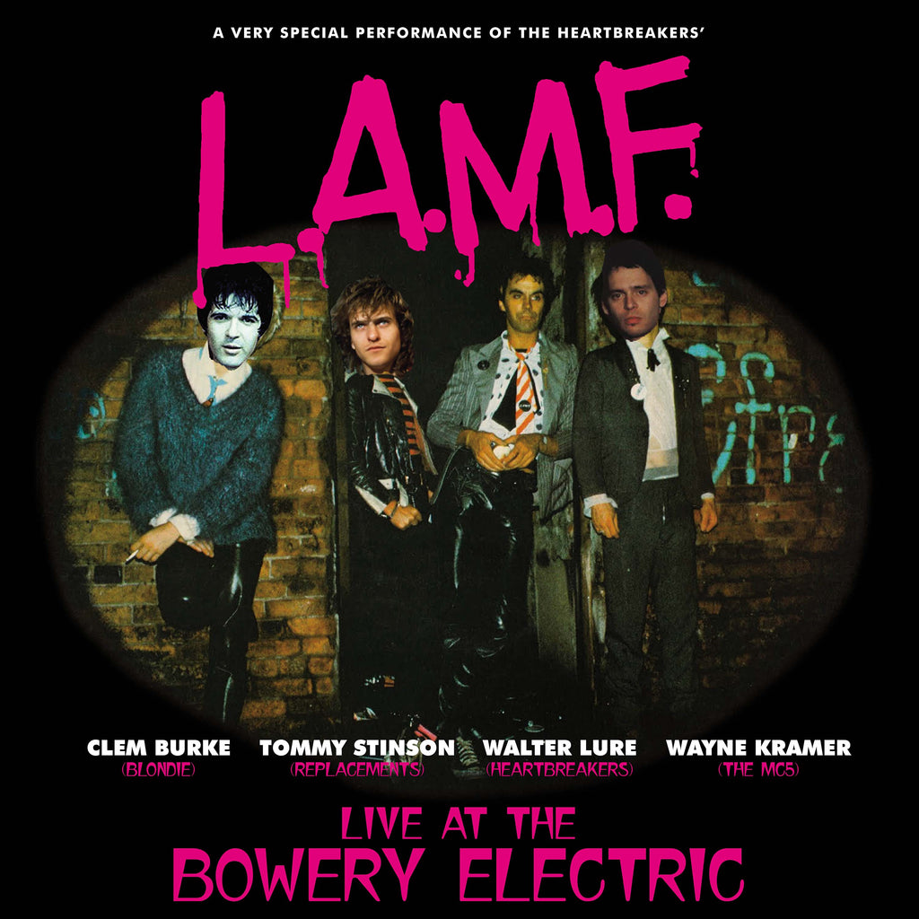Lure, Burke, Stinson & Kramer 'L.A.M.F. live at the Bowery Electric' blue vinyl LP