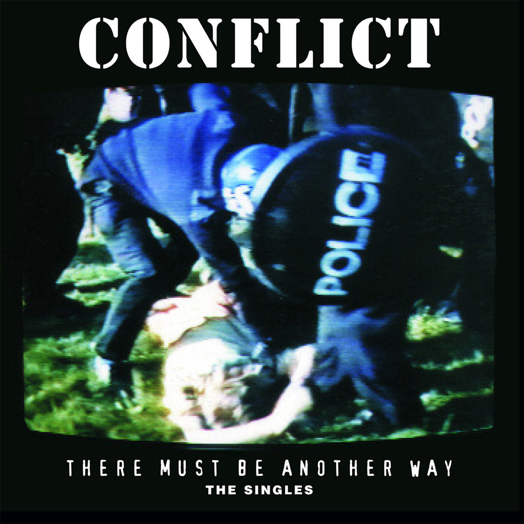 Conflict - 'There Must Be Another Way: The 'Singles' 2xLP gatefold with lyrics & poster