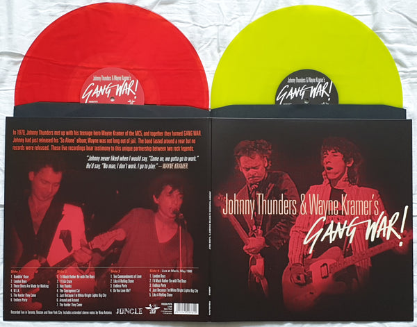 Johnny Thunders & Wayne Kramer - 'Gang War!' 2xLP limited coloured vinyl RSD