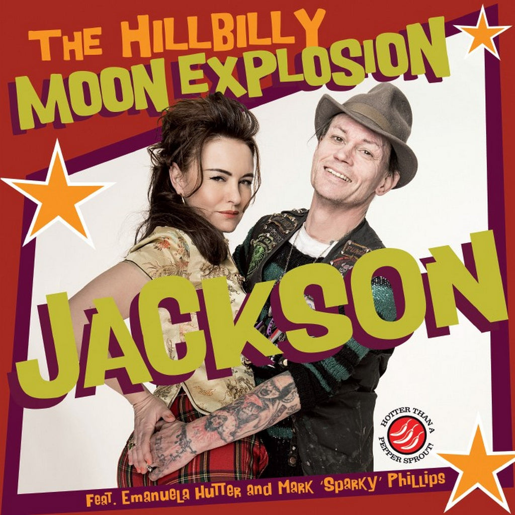 "The Hillbilly Moon Explosion 'Jackson' 7"" on limited yellow slime vinyl"