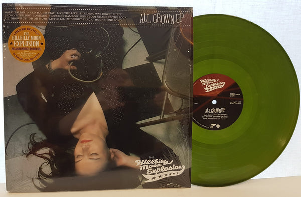 The Hillbilly Moon Explosion 'All Grown Up' LP - limited edition green khaki vinyl