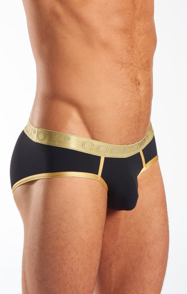Cocksox - Sports Brief - Gold Shimmer