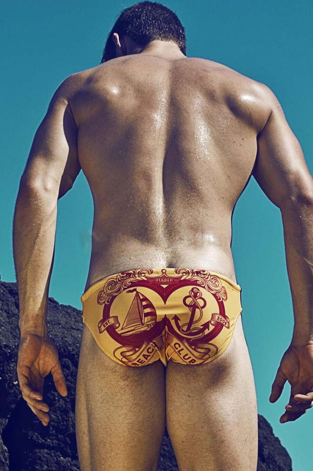 2EROS - V10.26 Beach Club Swim Brief - Gold-Swimwear-Johnny Beach