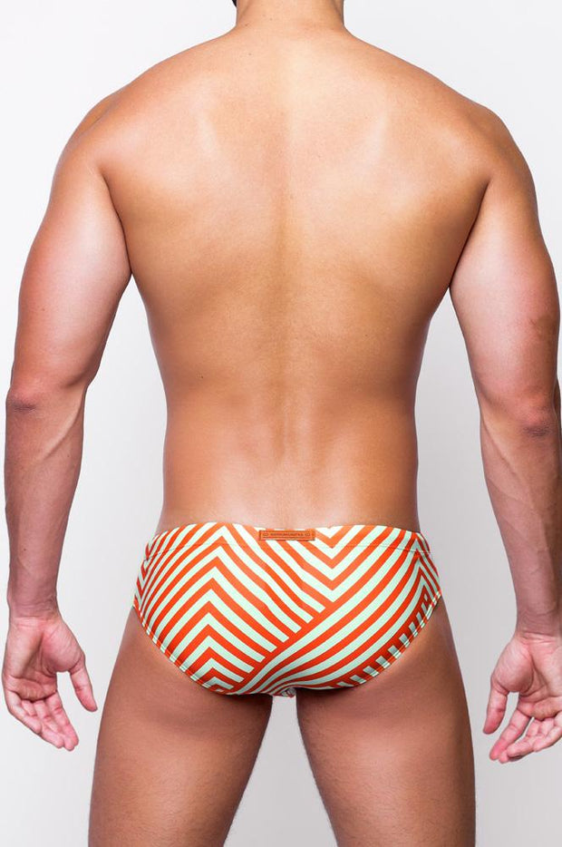 2eros V10 Print Swimwear Briefs Avant Orange-Swimwear-Johnny Beach