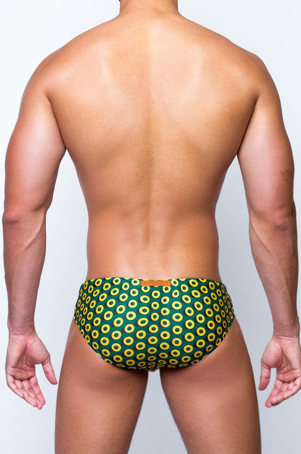 2eros V10 Print Swimwear Briefs Bauhaus Gold-Swimwear-Johnny Beach