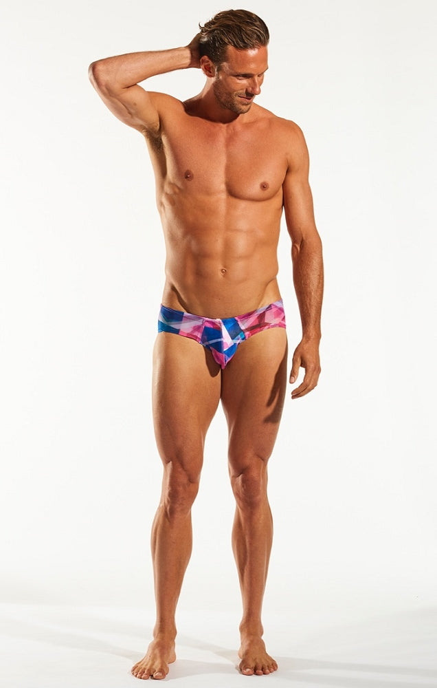 Cocksox - Sheer Boy Leg Swim Brief - Prism, swimwear, Cocksox - Johnny Beach