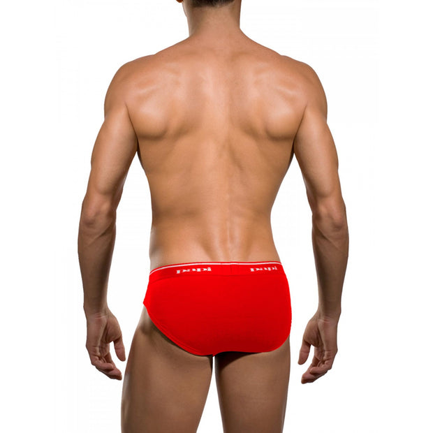 Papi - 3-Pack Premium Cotton Low Rise Brief - Red/Blue/Black Johnny Beach