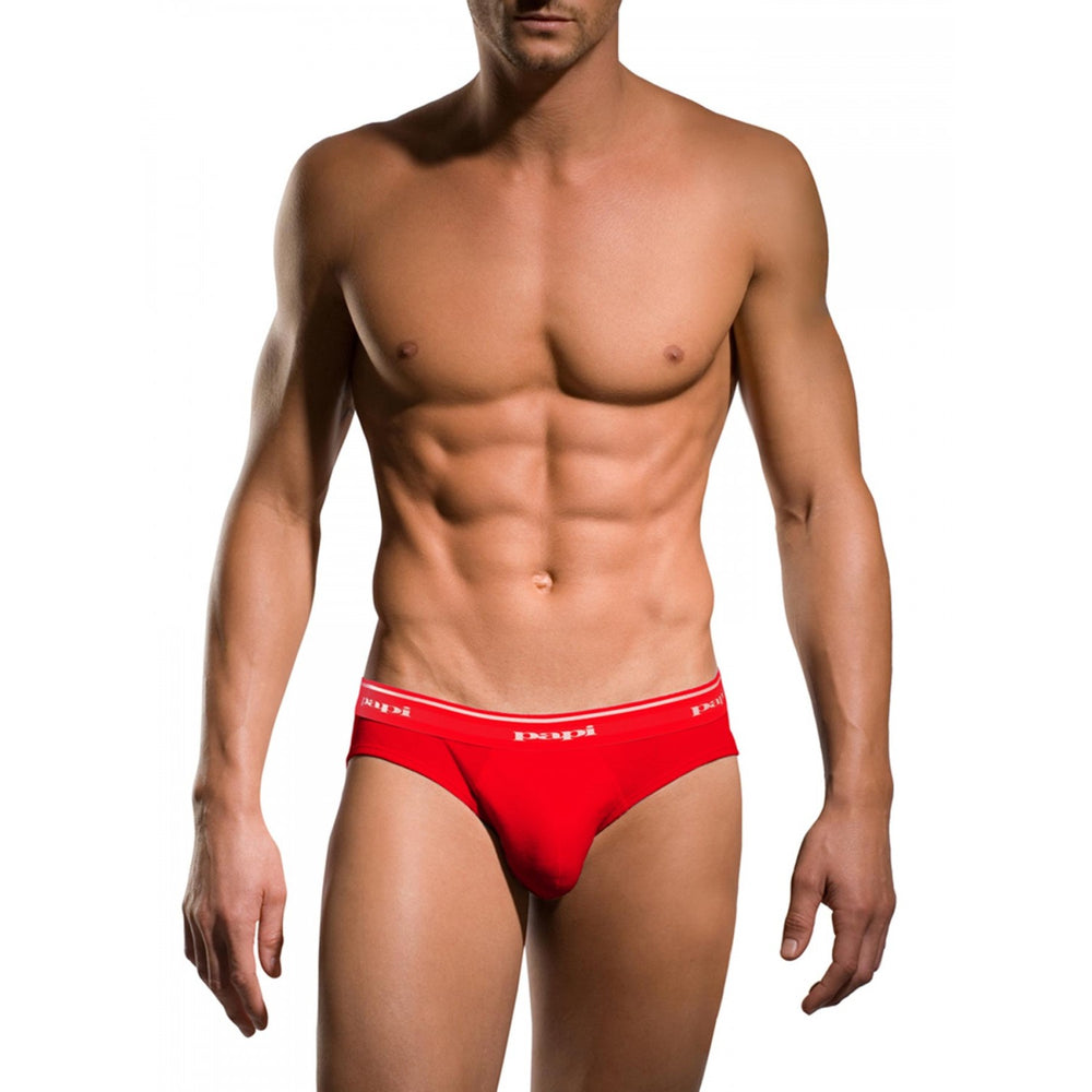 536db2a79966 Papi - 3-Pack Premium Cotton Low Rise Brief - Red/Blue/Black