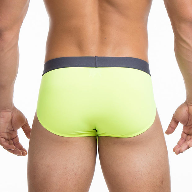 Papi - Sport Mesh Brief - Safety Yellow-Underwear-Johnny Beach