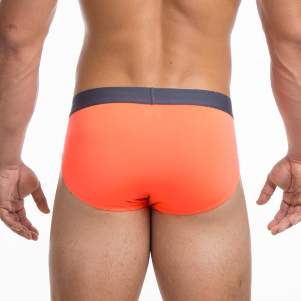Papi - Sport Mesh Brief - Fiery Coral Johnny Beach