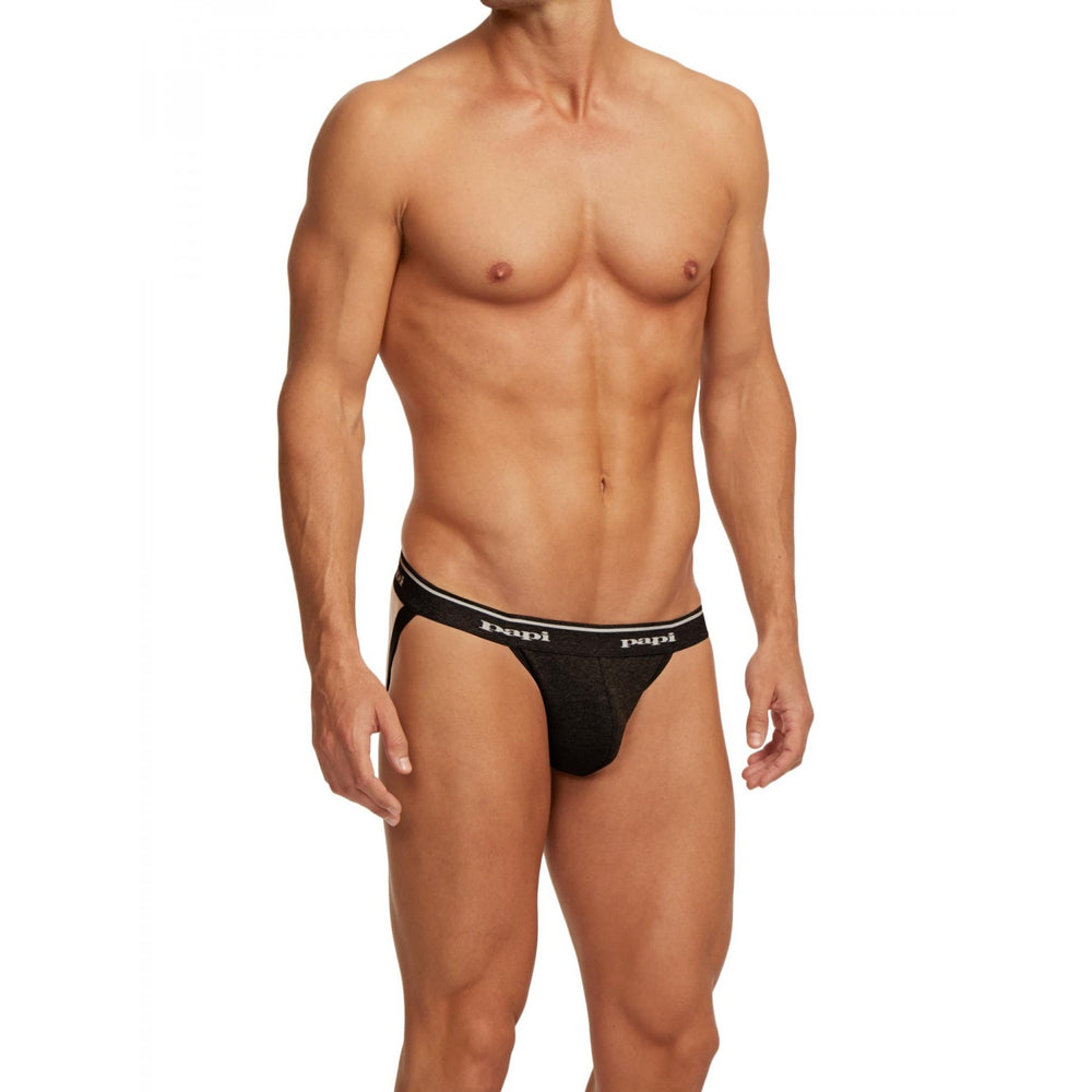 Papi - 3-Pack Premium Cotton Jockstrap - Gray, Underwear, Papi - Johnny Beach