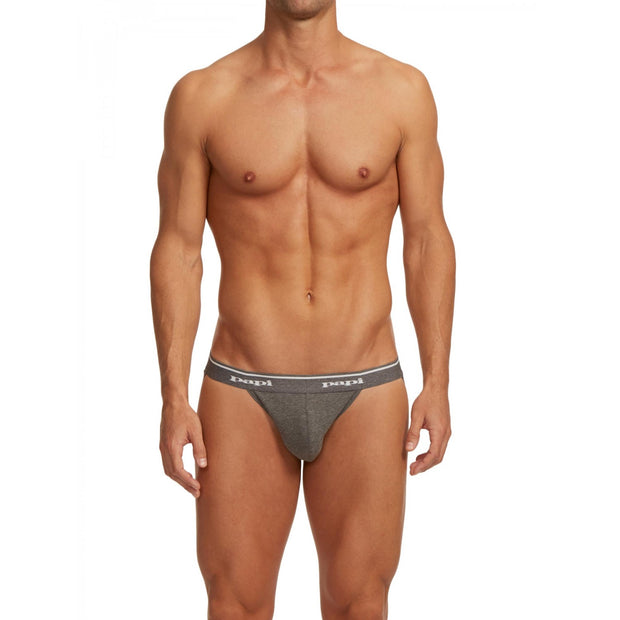 Papi - 3-Pack Premium Cotton Jockstrap - Gray Johnny Beach