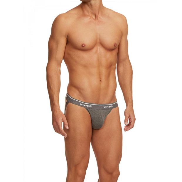 Papi - 3-Pack Premium Cotton Jockstrap - Gray-Underwear-Johnny Beach