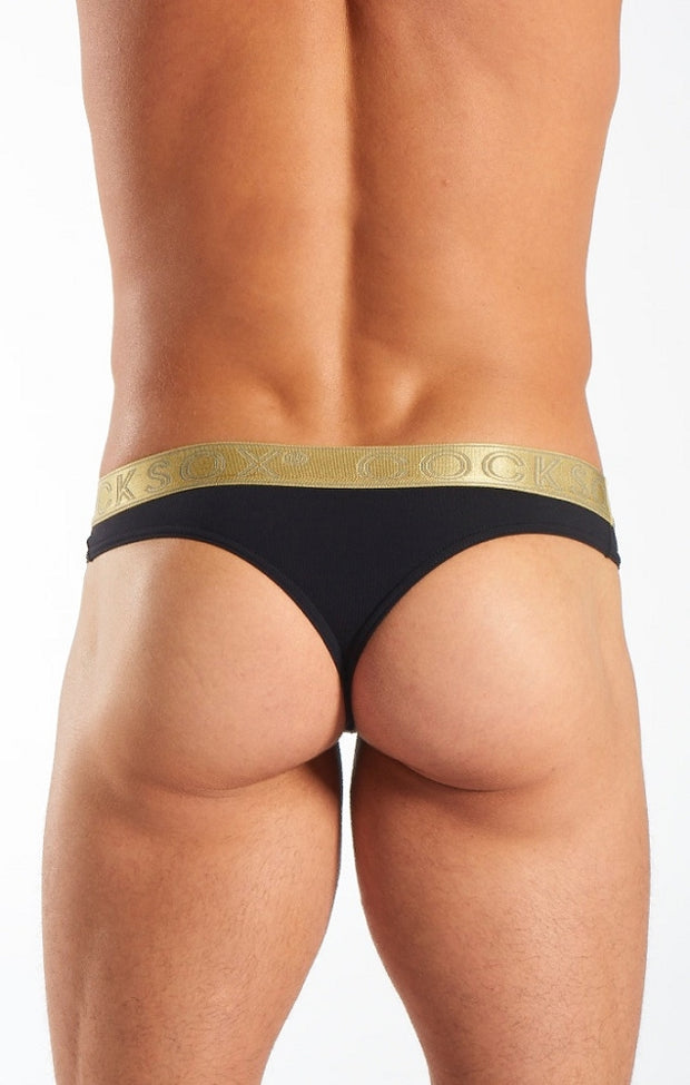 Cocksox - Sports Thong - Gold Shimmer-Underwear-Johnny Beach
