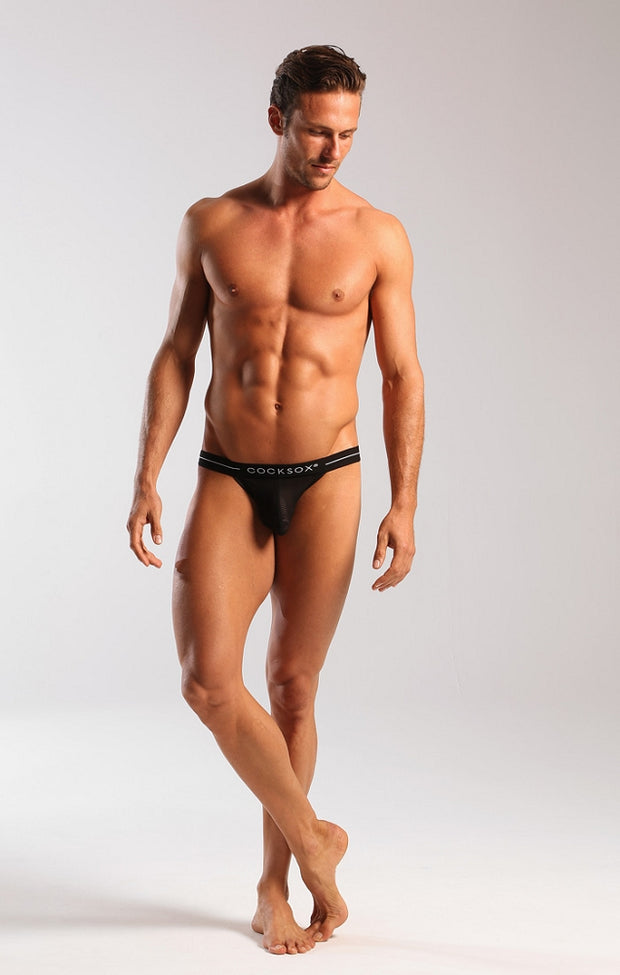Cocksox - Sheer Bikini Brief - Black Johnny Beach