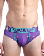Supawear - Sprint Brief Underwear - Prickly Purple-Underwear-Johnny Beach