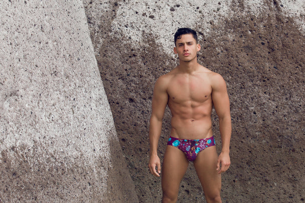 2eros - V10 Print Swimwear - Midnight Rose-Swimwear-Johnny Beach