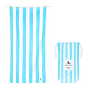 Dock & Bay - XL Cabana Towel - Tulum Blue-towels-Johnny Beach