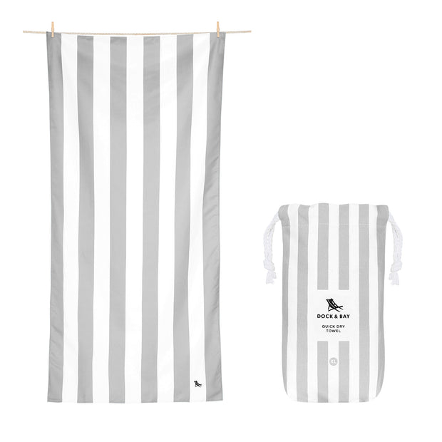 Dock & Bay - XL Cabana Towel - Goa Grey-towels-Johnny Beach