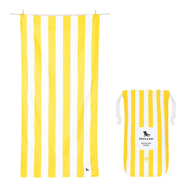 Dock & Bay - XL Cabana Towel - Boracay Yellow-towels-Johnny Beach