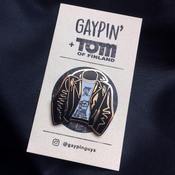 Gaypin - Tom Of Finland Leather Jacket Pin Johnny Beach