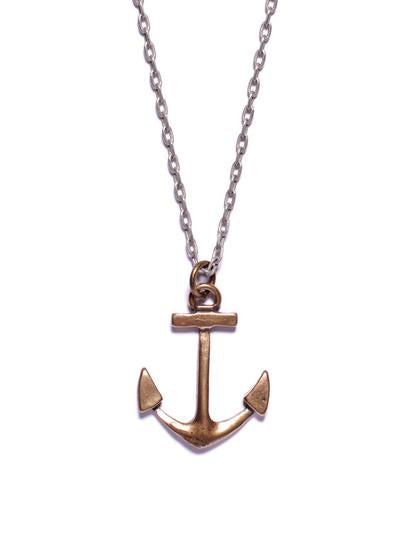 We Are All Smith Bronze Anchor Necklace