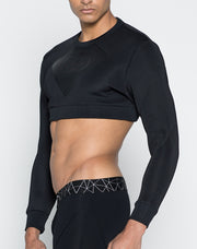 2EROS - BLK AKTIV Cropped Sweater-Top-Johnny Beach